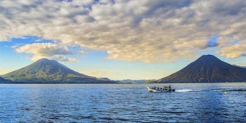 lago de Atitlán en Panajachel